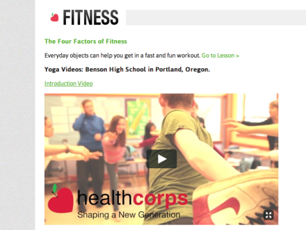 SATF Creates Student Yoga Instructional Videos for HealthCorps